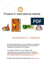 Product in International Market