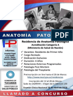 Flyer Anatomía Patológica