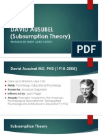 DAVID AUSUBEL (Subsumption Theory)