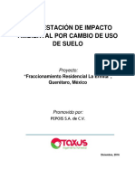 Manifiesto impacto ambiental