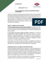 C-2018-017-Entrada en Vigor Del Plan de Autoprotección de Metro de Madrid