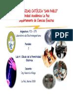 Lab 4 Cálculo de La Permitividad Eléctrica Fis 275 1 2018