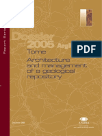 Dossier 2005 Argile - Tome Architecture and management of a geological repository