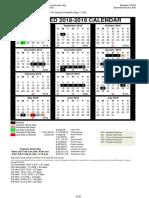 CCISD 2018-19 calendar