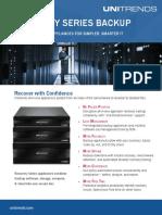 Recovery Series Backup Appliances DataSheet