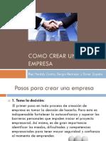 Como Crear Una Empresa