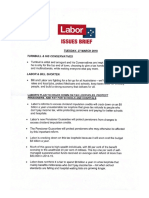 LABOR TALKING POINTS