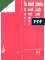 Le mot juste Exercices de vocabulaire et de style.pdf