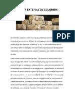 Deuda Externa en Colombia