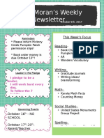 weekly newsletter-classroom management