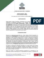 Datos Oficina de Seleccion y Carrera Procuraduria