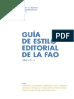 Guia de Estilo Editorial de La Fao