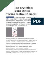 Científicos Argentinos Crearon Una Exitosa Vacuna Contra El Chaga1