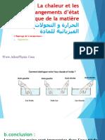 Ppt 1 - La Chaleur Et Les Changements d'État Physique (Www.adrarPhysic.com)