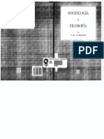 Sociologia y Filosofia Emile Durkheim PDF