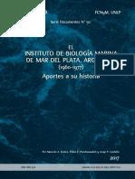 El Instituto de Biología Marina de Mar del Plata, Argentina. 1960-1977