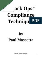-Black Ops- Compliance Techniques