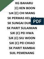 Senarai Sekolah Terlibat Badminton
