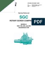 Frick-Rotary Screw Comp Models SGC 193 233 283 SGCB SGCH 355 Service Parts List