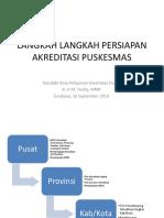 Langkah Langkah Persiapan Akreditasi Puskesmas
