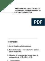 Control de Temperaturas Concretos Masivos Porce I