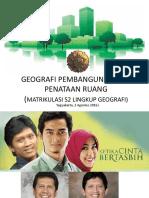 Geografi Pembangunan Dan Tata Ruang