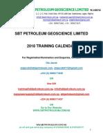 SBT Petroleum 2018 Training Brochure