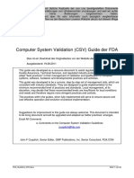 FDA Guideline CSV