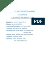 Acciones Plan Mejora 2014 Bachiller 5089