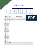 Kalendar kurikulum
