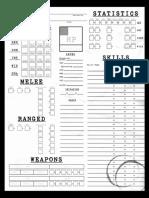 Weird War II Character Sheet