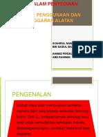 Pemilihan, Penggunaan & Penyelenggaran (m3)