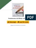 Fundamentos Del Dibujo Artistico by Parramon