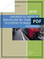 ENGINEER ALI MIRZA OF JHELUM AND HIS  CONSPIRACY IN SUPPORT OF MIRZAIS AND NUSAIRIAH ,REFUTING ENGINEER ALI MIRZA OF JHELU
