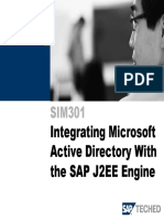 SIM301 Integrating Microsoft Active Directory With the SAP J2EE Engine
