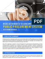 Risks Attributed to Subcontracting in Public Procurement System