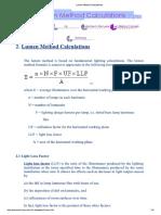 Lumen Method Calculations