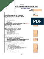 Income Tax Calculator FY 2018 19