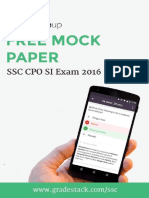 SSC CPO Final Paper