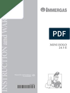 Manual Immergas Eolo Mini 24 3