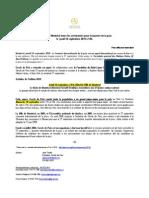 Communiqué de Presse - Cercle de Paix - 2010 - FR