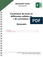 Microsoft Excel - Fractionner Ou Déconcaténer