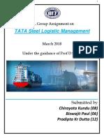 Group-II,MBA 2016-19 (TATA Logistics )