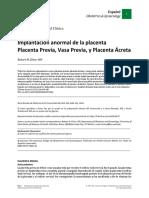 Placenta Previa Vasa Previa 2015 Bueno