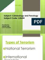 TERRORISM Under Criminology