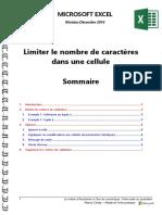Microsoft Excel - Limiter Le Nombre de Caractères Dans Une Cellule