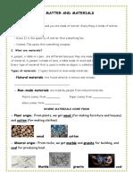 Unit 5 Matter and Materials