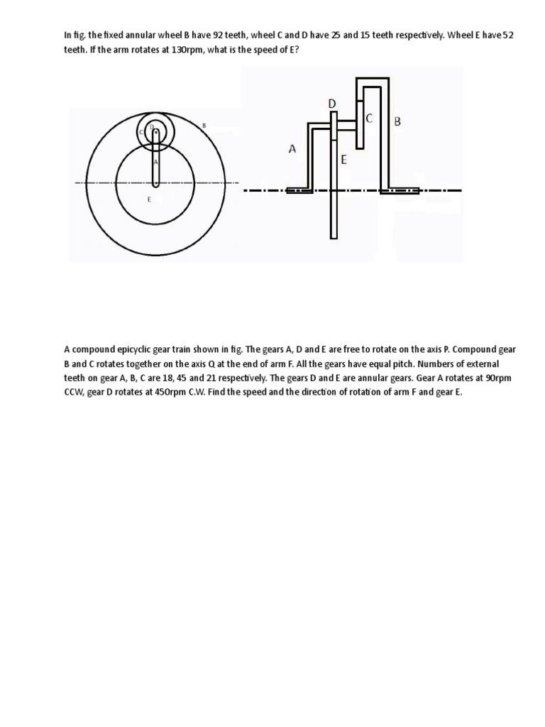 Gear Trains Diagrams