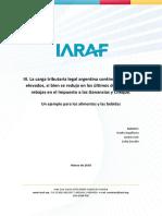 Evolución de la Carga Legal Argentina en los Últimos dos años