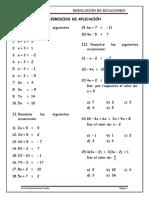 Alg - 1ero Sec - Resolucion de Ecuaciones